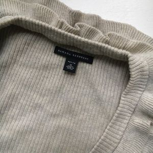 Banana Republic Sweaters - Banana Republic Ruffle Ribbed Cardigan